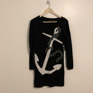 Express Long Sleeve Dress with Anchor
